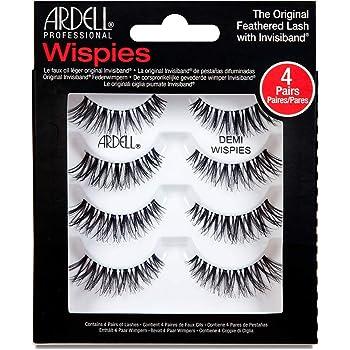 Ardell Demi Wispies False Eyelashes Black, Eye Make-Up Enhancement, Full Volume Strip Lashes - 4 pairs in 1 pack