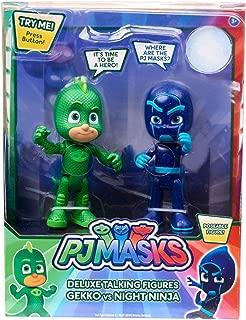 PJ Masks Deluxe Talking Figures Gekko vs Night Ninja
