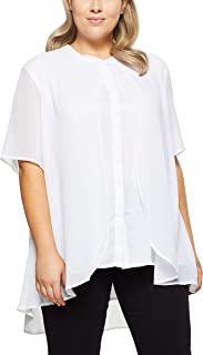 My Size Women's Plus Size Palm Cove Layered Blouse