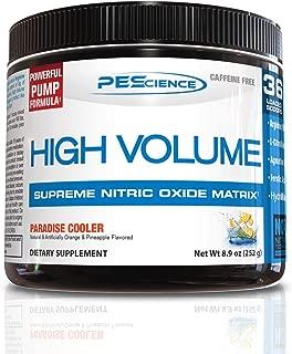 PEScience High Volume Caffeine Free Pump Pre Workout, Paradise Cooler, 252 Gram