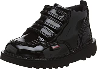 Kickers Kick Shi-Knee Patent Infant Toddler Girls School Shoe Boot Black