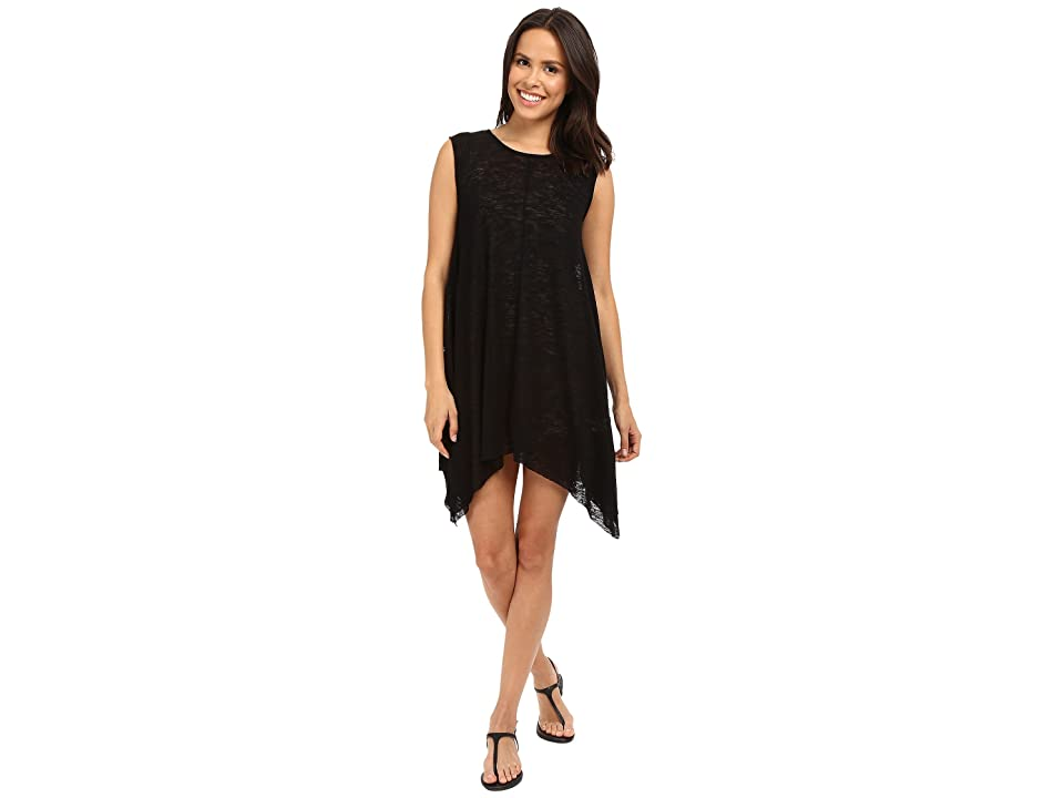 Culture Phit Alexa Shark-Hem Cap Sleeve Dress (Black) Women's Dress