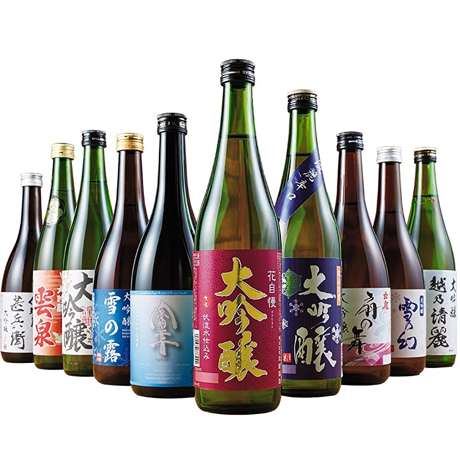 火傷棚行き当たりばったり日本酒 大吟醸 全国10酒蔵 飲みくらべ 10本組 720ml×10本 お中元 ギフト プレゼント