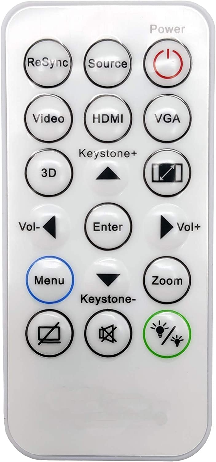 INTECHING SP.8VH02GC01 Projector Remote Control for Optoma DAESSGN, DS344, DS346, DW346, DX345, DX346, H112e, H182X, HD28HDR, HD39HDR, S310e, S315, S316, W310, W312, W316, X312, X315, X316
