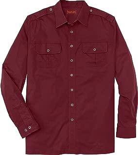 Boulder Creek Men's Big & Tall Long Sleeve Pilot Shirt