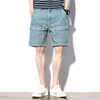 0b4f11b12811 Aancy Multiple Pocket Vintage Casual Jeans Shorts Men Trousers Straight  Denim Cargo Mens Clothing