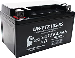 Replacement for 2007 Yamaha YZF-R6 (excl. R6S) 600CC Factory Activated, Maintenance Free, Motorcycle Battery - 12V, 8.6Ah, UB-YTZ10S-BS