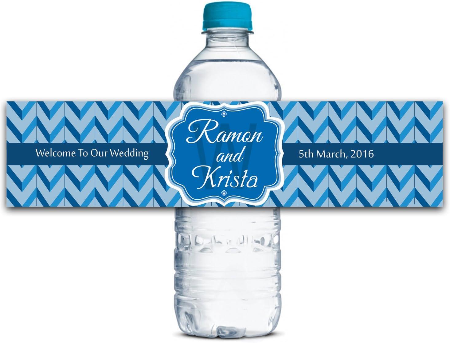 Wedding Water Bottle Labels Wedding Invites Labels  WBL108P Personalized Labels Custom Water Bottle Labels Self Adhesive Labels