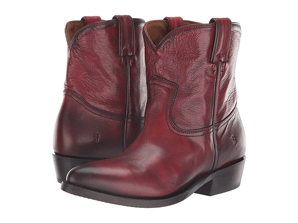 Frye Billy Short (Burnt Red Polished Soft Full Grain) Cowboy Boots