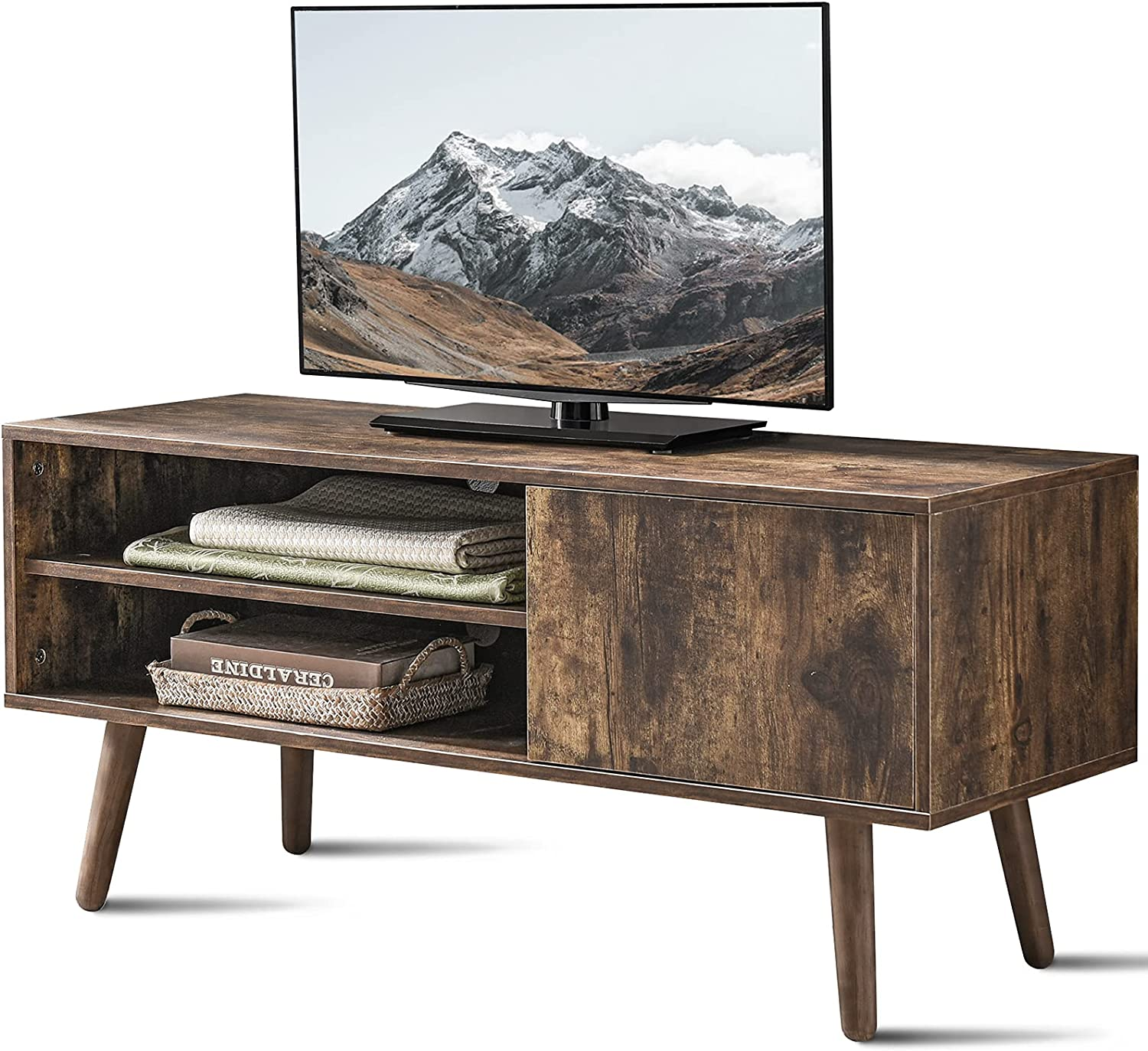 Cozy ご予約品 Castle TV Stand for 50 スーパーセール Century Inch Mid Modern Conso