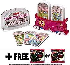 Melissa & Doug Kindergarten Smarty Pants Card Game Set & 1 Scratch Art Mini-Pad Bundle (05071)