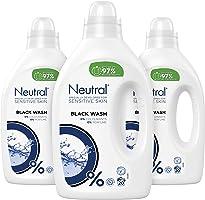 Neutral Wasmiddel Zwart voor de Donkere en Zwarte was, Parfumvrij - 60 wasbeurten - 3 x 1L