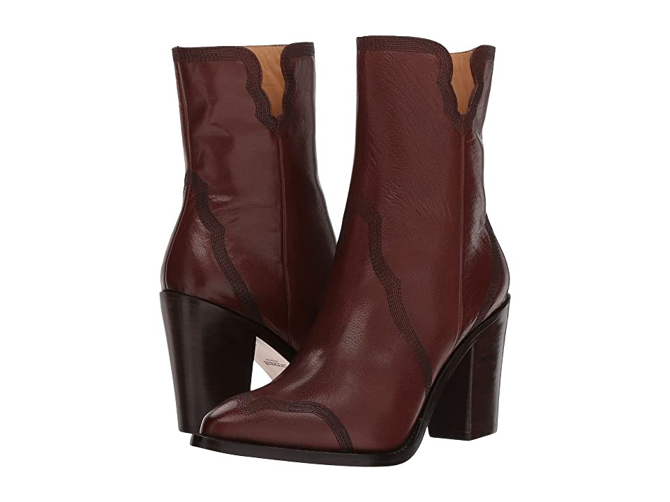 Lucchese Alison (Wine Burnished Cowhide) Cowboy Boots