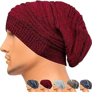 Rayna Fashion Unisex Beanie Hat Slouchy Knit Cap Skullcap Stripe Baggy Style 1017