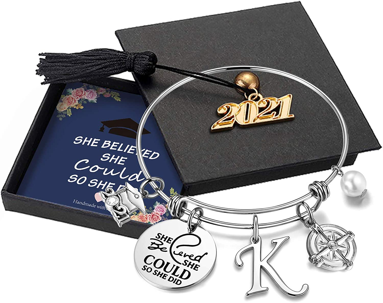 Hidepoo Inspirational Japan's largest assortment Graduation Inventory cleanup selling sale Gifts Believed Bracelet She Sh