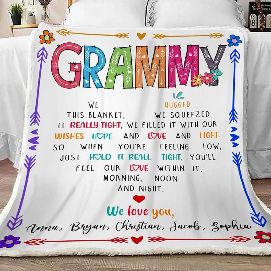 Grammy Max 42% OFF Throw Blanket We Max 44% OFF Hugged Gift Fun Grandma This