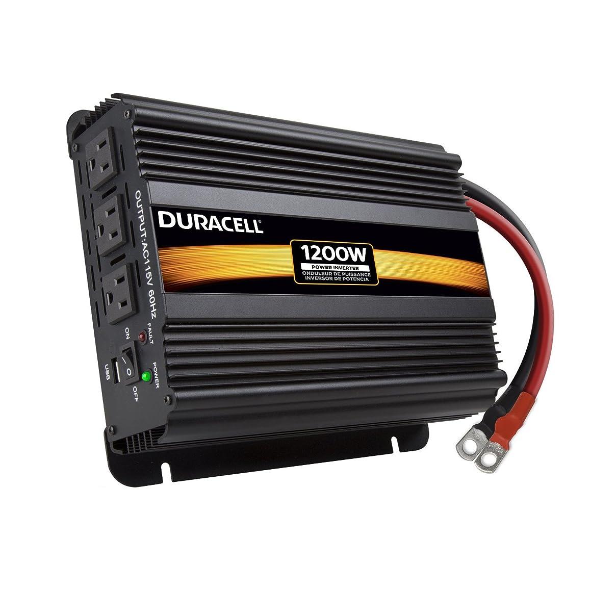 Duracell Power DRINV1200 Black High Power Inverter, 1200 W