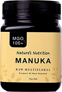 Nature's Nutrition Raw Multifloral Manuka Honey MGO, 100g+ 1kg