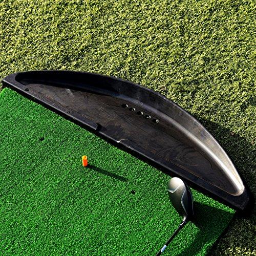 FORB Gummi Golfballschale (Schwarz) – (107cm x 28cm x 8,5cm) – Halten Sie Ihre Golfbälle unter Kontrolle auf dem Driving Range