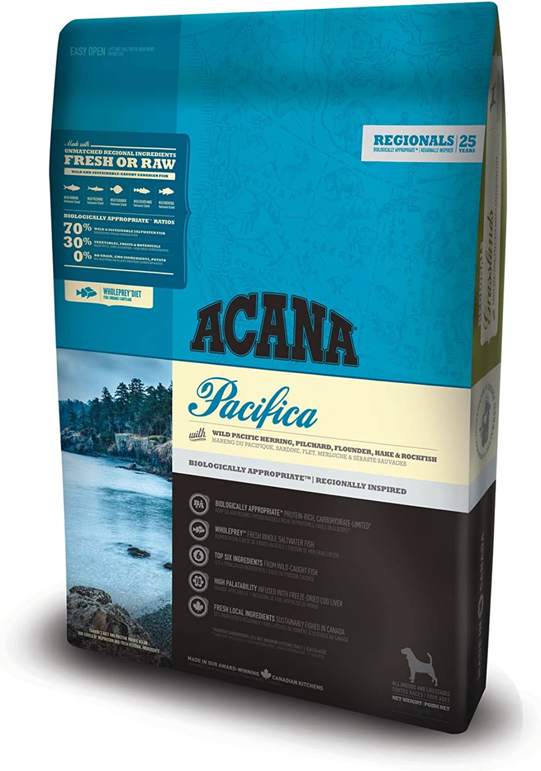 Acana Pacifica Dog Food, 11.4 kg