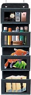 Over the Door Organizer,4-Shelf Over the Door Pantry Organizer,Foldable Wall Mount Hanging Organizer for Bedroom Nursery P...