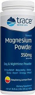 Trace Minerals Stress-X Magnesium Powder Raspberry Lemon Flavor - 16.9 oz
