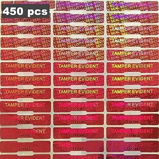 BestBuddy Tamper Evident Sticker Tamper Resistant Tape Warranty Void Tape Dog Bone Security Seal, 450 Pics, Red