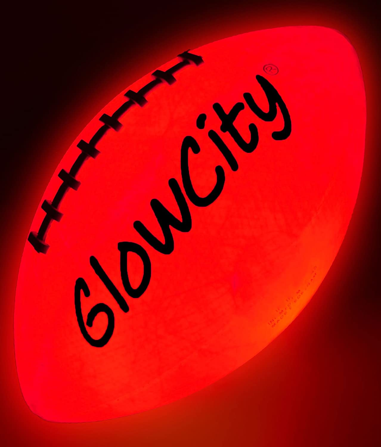 GlowCity Glow in The Dark Football - Light Up Balls for Kids, Teens and Adults - LED Lights and Pre-Installed Batteries Included - Official Size Footballs : Sports & Outdoors