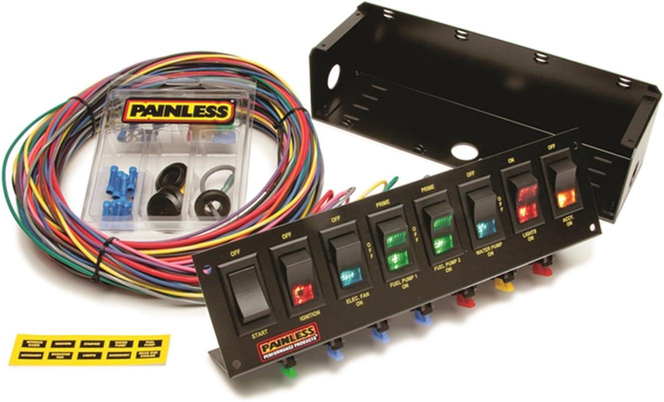 Amazon.com: Painless Wiring 50303 Race Car 8 Switch Panel: Automotive | Drag Race Wiring |  | Amazon