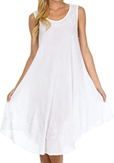 Best white embroidered dress india Reviews