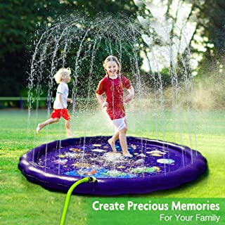 AUTOXEL Sprinkler for Kids, Toddler Splash Play Mat Outdoors Children�s Sprinkler Pool Babies Inflatable Water Play Pad Spray Water Toys Kiddie Pool for Boys and Girls