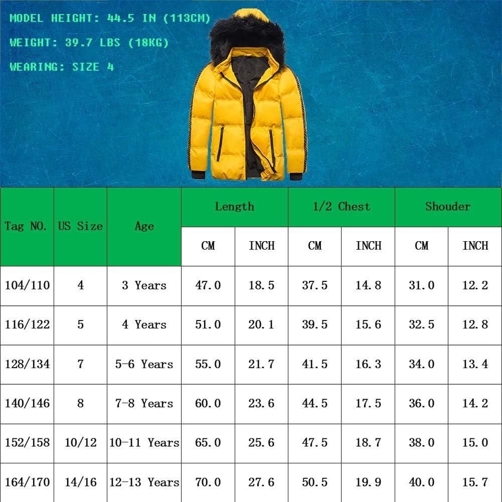 SNOW DREAMS Boys Winter Coat Waterproof Puffer Fall Jacket Hooded Warm for Kids Outerwear Parka