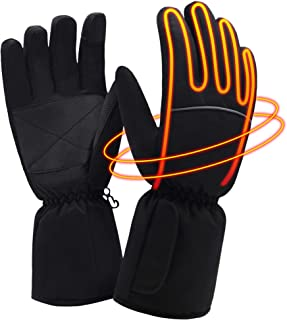Electric Battery Heated Gloves for Men Women, Waterproof Windproof Touchscreen Thermal Gloves Winter Warm Novelty Cotton Powered Heated Gloves,Great for Running Hunting Cycling Skiing Motorcycling