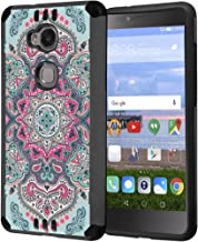 Huawei Sensa Case, Honor 5X Case, Capsule-Case Hybrid Silm Defender Armor Combat Case (Dark Grey & Black) Brush Texture Finishing for Huawei Sensa 4G LTE / Honor5X - (Indian Mandala)