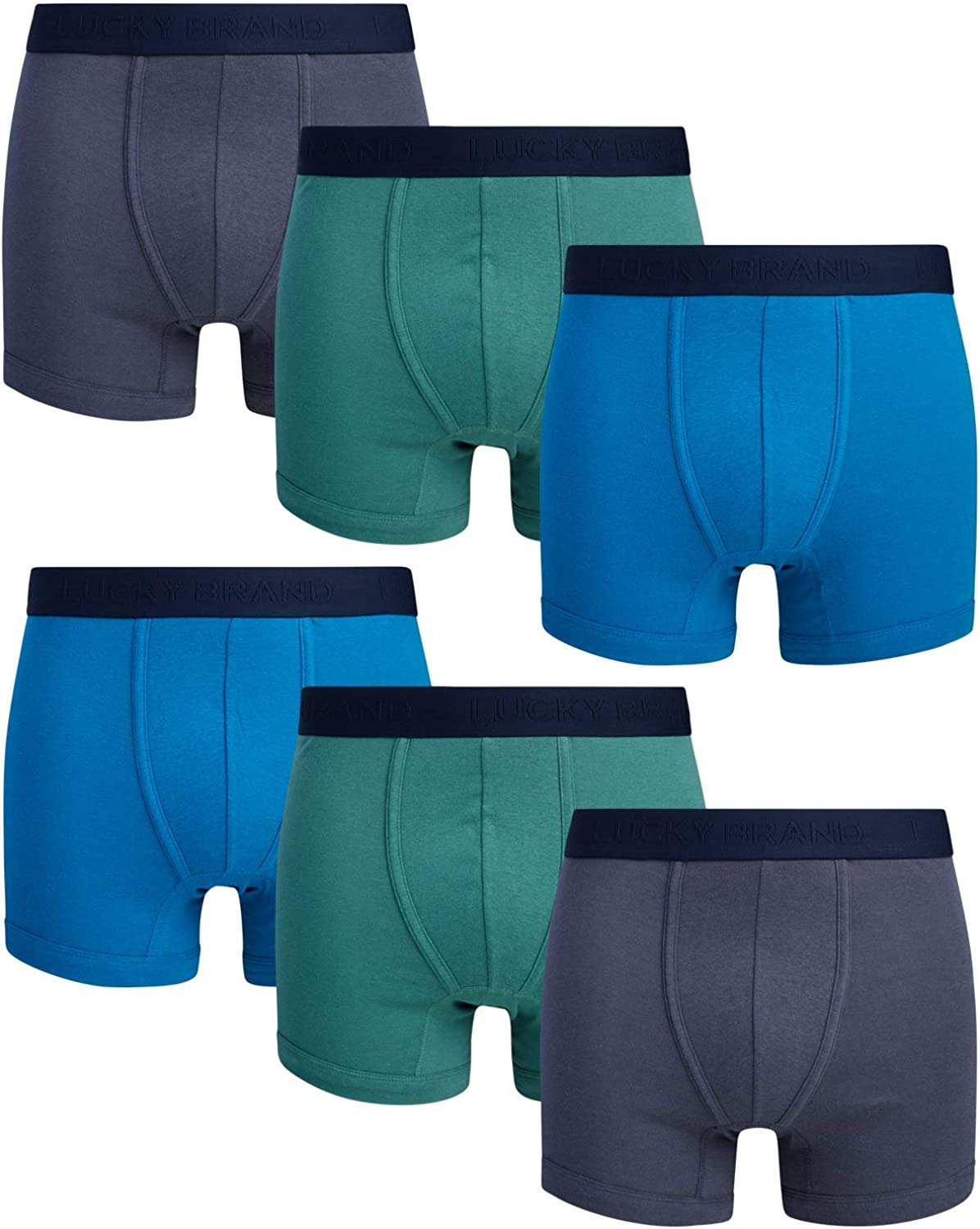 Lucky Brand Men's Price reduction Max 48% OFF Super Soft Pack Boxer 6 Briefs