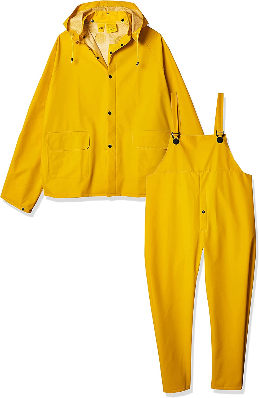 CLC Custom Leathercraft Rain Wear R101L .35MM 3-Piece Rain Suit Yellow, Large