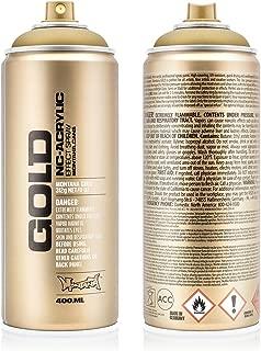 Montana Cans MXG-M3010 Montana 400 ml Color, Gold Matte Spray Paint,