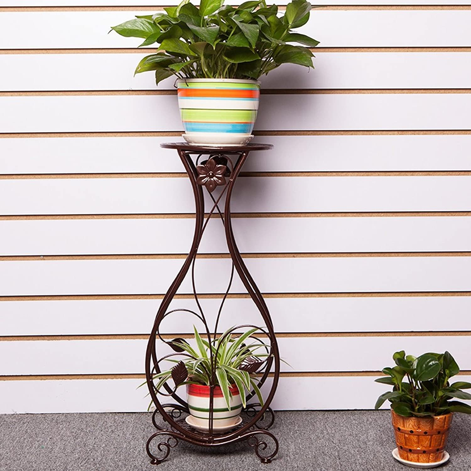 Flower Stand Shelf Multi Layer Indoor Plant Pot Rack Balcony Living Room Flower Display Shelf (color   Bronze)