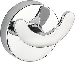WENKO Vacuum-Loc® wandhaak Duo Capri - bevestigen zonder boren, gegoten zink, 6,5 x 6 x 4 cm, chroom