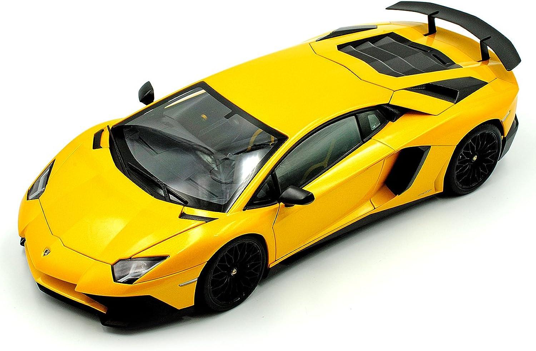 AUTOart Lamborghini Aventador LP750-4 SV Superveloce Coupe Gelb 74558 1 18 Modell Auto mit individiuellem Wunschkennzeichen