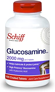 Schiff Glucosamine With Hyaluronic Acid, 2000mg Glucosamine, Joint Care Supplement Helps Lubricate & Protect Joints*, 150 ...