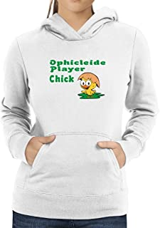 Eddany Ophicleide Player Chick Women Hoodie