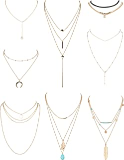 Best multi layered choker necklace Reviews