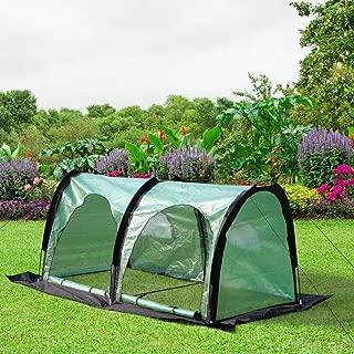 "PHI VILLA Pop Up Greenhouse-Flower Plant Greenhouse 79""x 39""x 39"" (Black)"