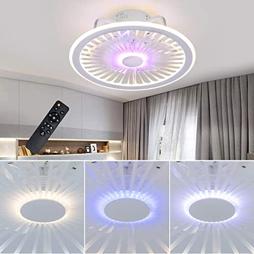 new arrival LCiWZ 18.5In Ceiling Fan with Lights,Hidden Electric high quality Ceiling Fan with RGB Ambient Light,72W Remote Control 2021 Adjustable 3 color Temperature and 3 Wind Speed Invisible Ceiling Fan sale