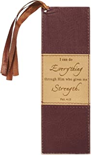 I Can Do Everything Brown LuxLeather Pagemarker/Bookmark - Philippians 4:13