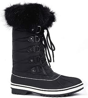Greatonu Womens Mid Calf Warm Fur Snow Winter Boots