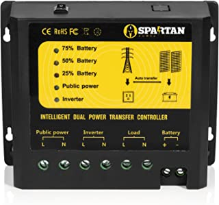 Spartan Power Transfer Switch 4500 Watt 24V Dual Wind & Solar Power Controller SP-TS4500-24