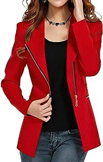 Aro Lora Women's Autumn Oversize Slim Fit Bodycon Zipper Suit Coat Jacket Blazer Outwear