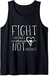 Barbed Wire Heart Fight Ignorance Not Immigrants Tank Top